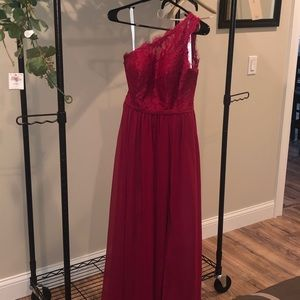 Size A4 Burgundy Demi Dress from Azazie!